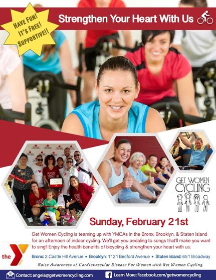 FREE Get Women Cycling Event at Bronx YMCA