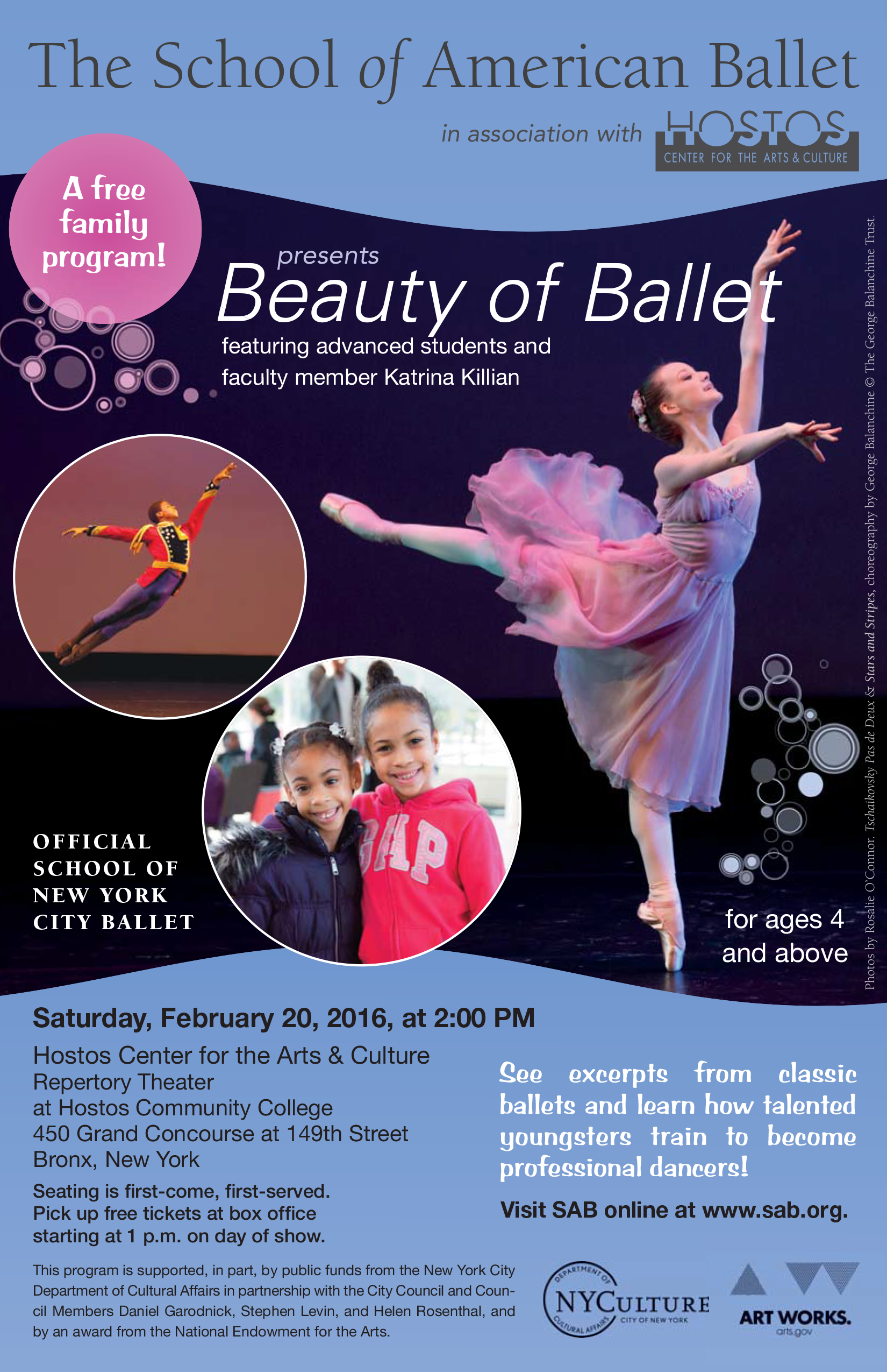 Free: The School of American Ballet presents Beauty of Ballet