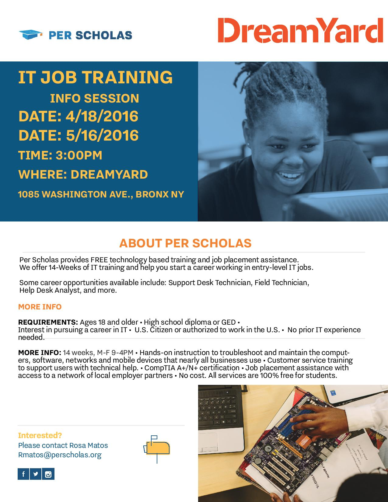 IT Job Training Info Session