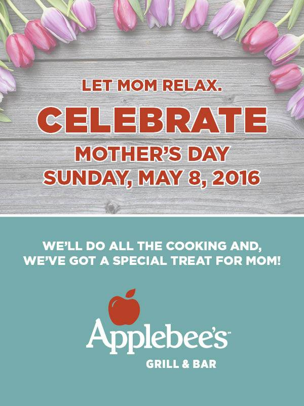 Win a $100 Giftcard to the Applebees Metro Center Location for Mother's Day