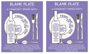 Blank Plate: A Taste of the Bronx- A Community Dinner Party