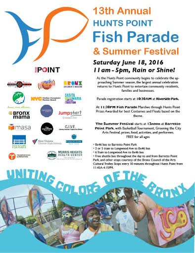 13th Annual Hunts Point Fish Parade