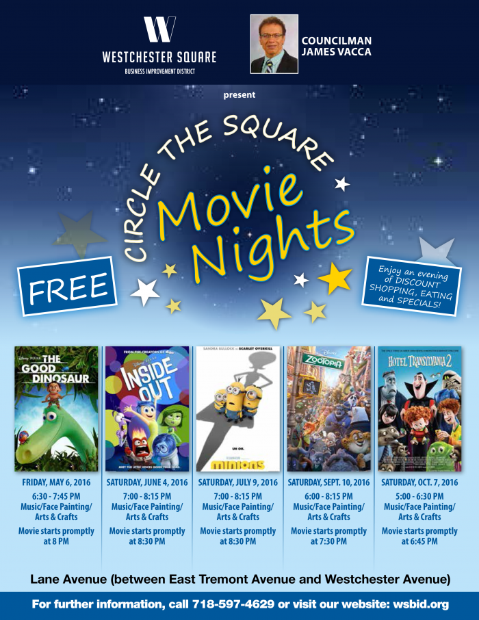 Movie Nights in Westchester Square 2016
