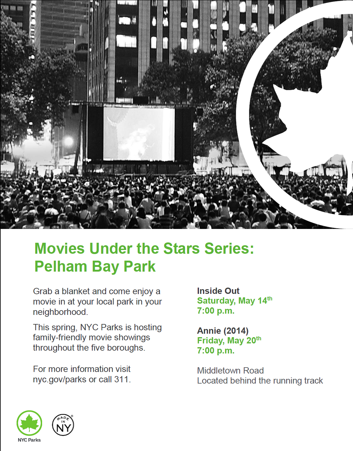 Outdoor Movies at Pelham Bay Park