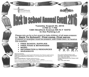 Back to School Annual Event