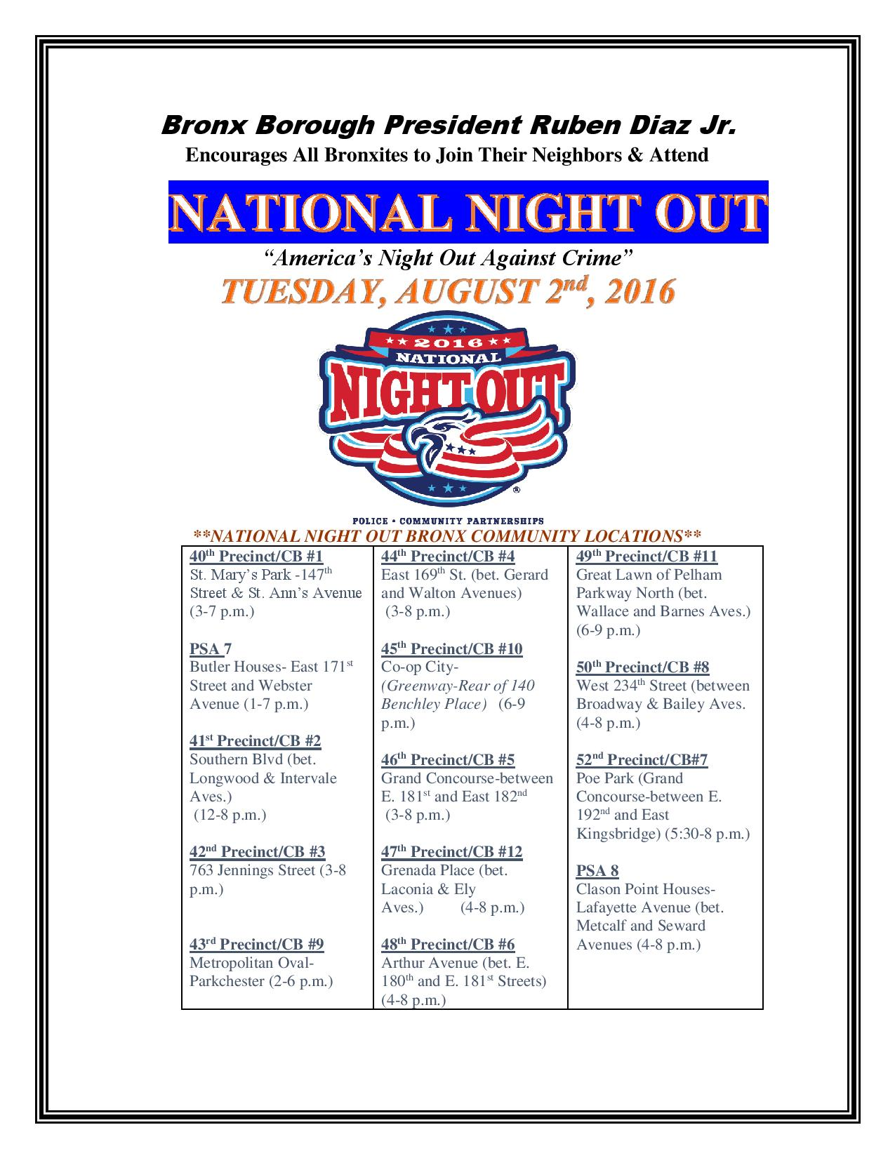 National Night Out in the Bronx