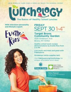 Lunchology: Healthy School Lunch Event with Evette Rios