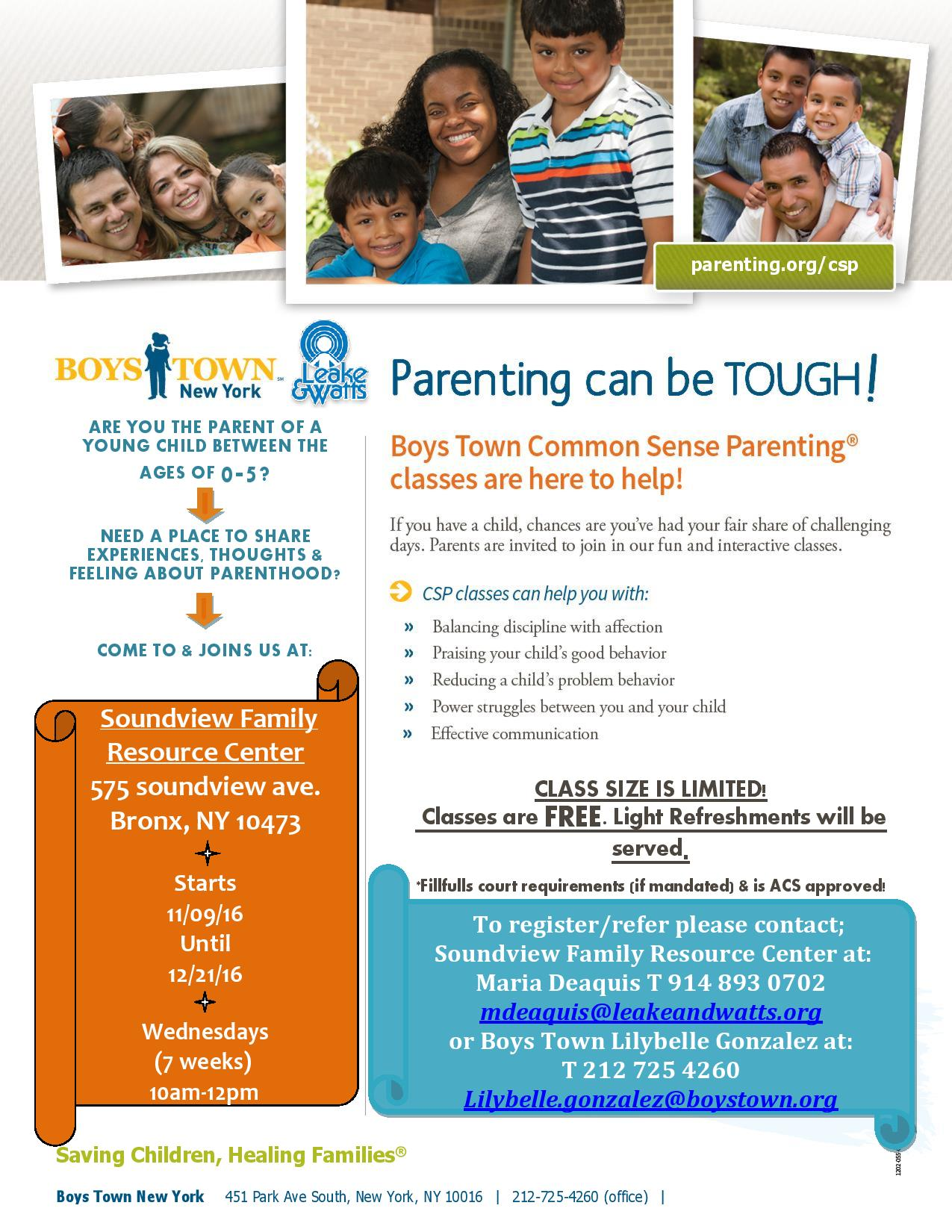 Boystown parenting class flyer 2016 page 001 for Parent flyer templates