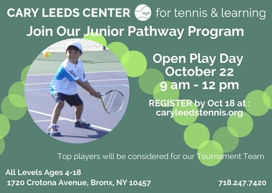 FREE: Junior Play Day at Cary Leeds Center for Tennis and ...