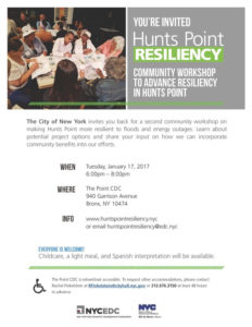 HUNTS POINT RESILIENCY Community Workshop to Advance Resiliency in Hunts Point