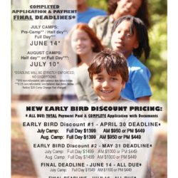 Early Bird Discount Pricing for Summer Camp at Lehman College