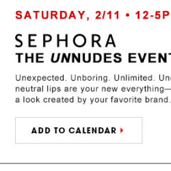 The UnNudes Event at Sephora