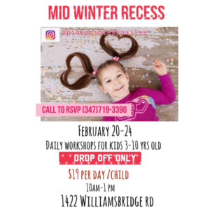 Mid Winter Recess Workshops for Kids