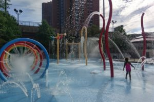Cooling off at Roberto Clemente State Park in the Bronx