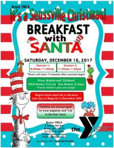 Breakfast with Santa at the Bronx YMCA