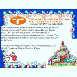 TABX Fourth Annual Bronx Christmas Lights Ride & Toy Drive