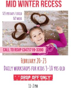 Drop Off Mid Winter Recess Workshops at Pink Princess Nails