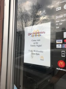 Family Night at McDonalds