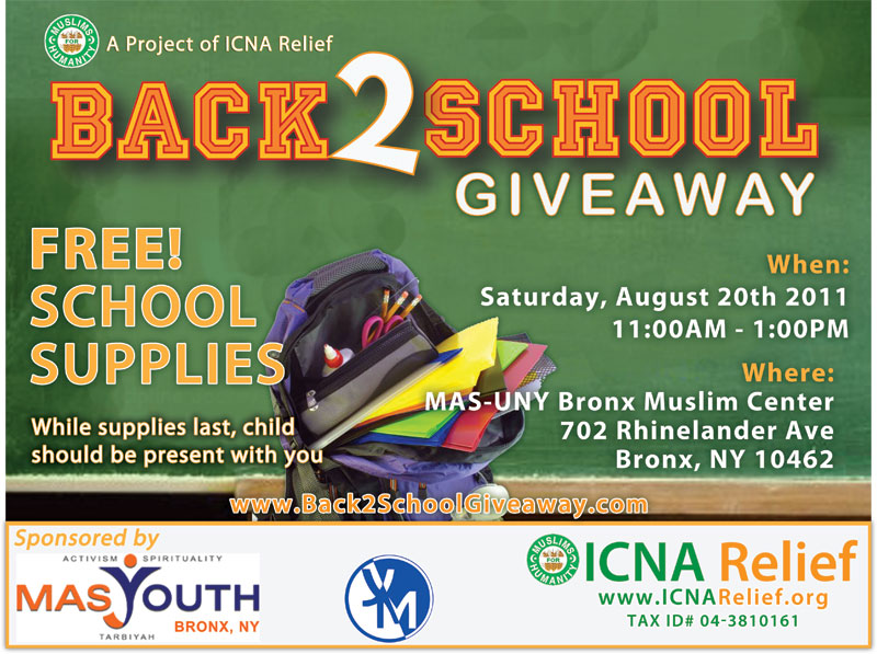 backpack giveaway in the bronx