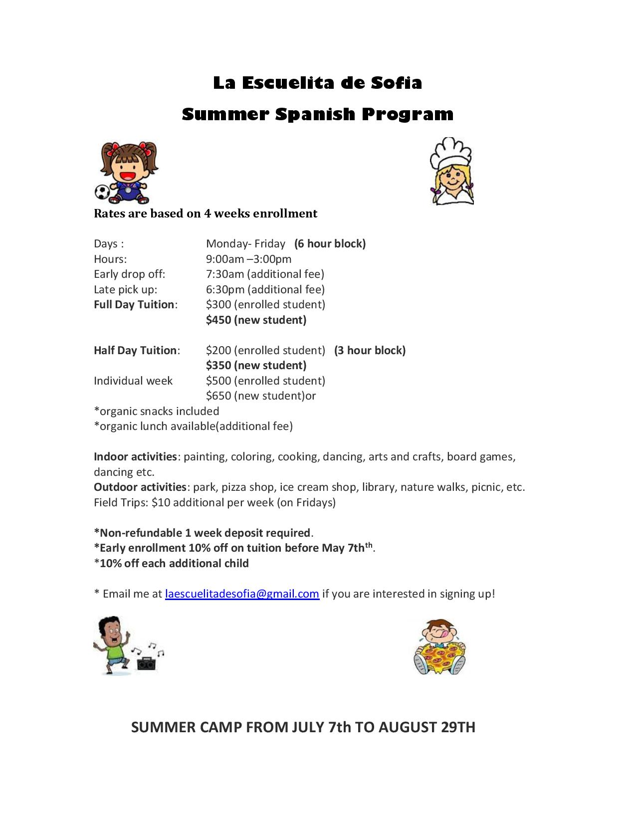 Summer program flier page 001 for Argument list for class template is missing