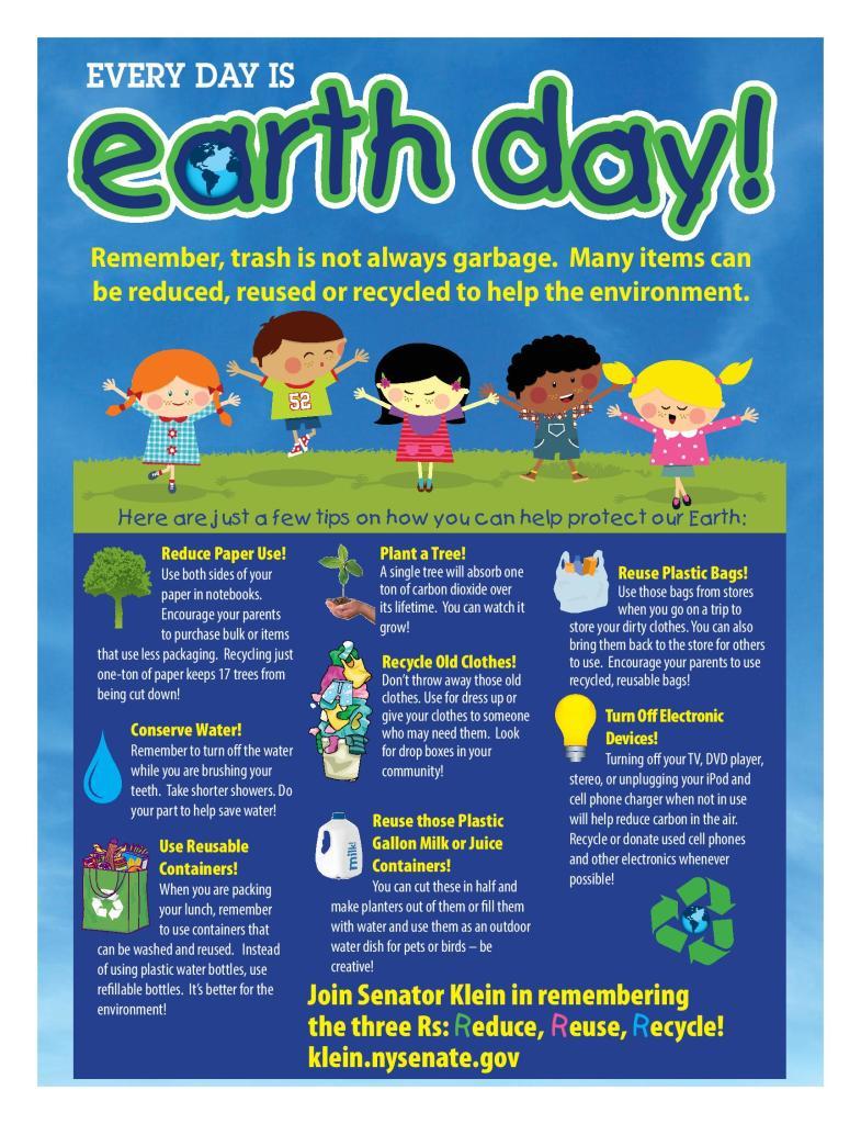 New York State Senates 5th Annual Earth Day Poster Contest