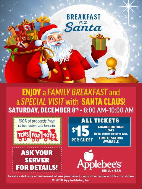 Breakfast with Santa at Applebees